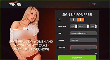 Naughtyfever.com home page