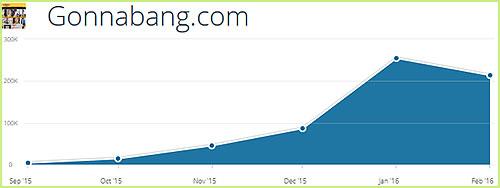 Gonnabang.com statistics
